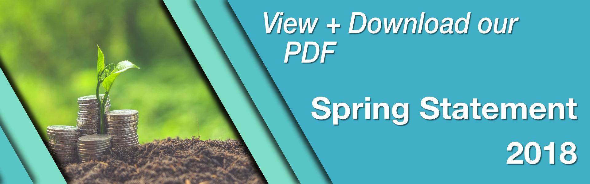 Spring Budget Statement PDF Banner